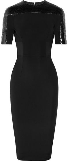 It only a $2,825 VICTORIA BECKHAM Stretchcrepe and Python detail dress...thats all!
