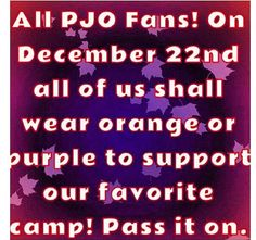 12/22/13. Operation Orange Tee shirt is a go. I am going to do this, this year....