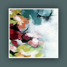 Fine Art Prints, Set of 3 Print, Abstract Painting, Plant Painting, Modern Abstract Art, Flower Art, Square Prints, Contemporary Painting