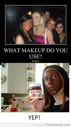 Nutella Face Cream tanning peanut butter makeup fake tan