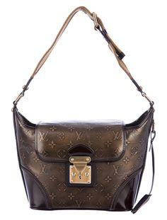 Louis Vuitton Sergeant PM Antiqued monogram bronze leather shoulder bag