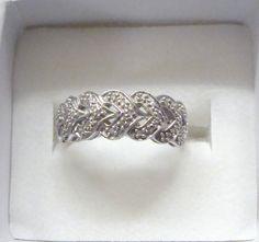Layered Heart Diamond Ring sz 9 by BETTYSJEWELRYDESIGNS on Etsy, $76.00