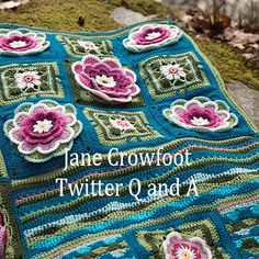 Lily Pond Blanket CAL by Jane Crowfoot - All the free pattern pdfs are there in US and UK English, and Dutch. Ravelry page here: http://www.ravelry.com/patterns/library/lily-pond-blanket-cal