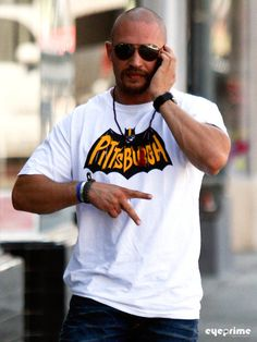 Tom Hardy wearing The Steel Knight in Hollywood $25.99 @ www.believemerch.com