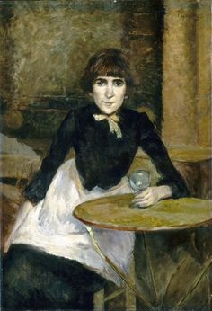 Henri de Toulouse-Lautrec - A la Bastilla (Jeanne Wenz) - 1888 - óleo sobre lienzo - National Gallery of Art, Washington