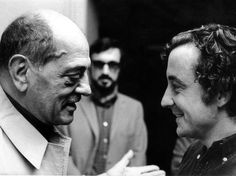 Film greats Luis Buñuel and Louis Malle have a tete-a-tete
