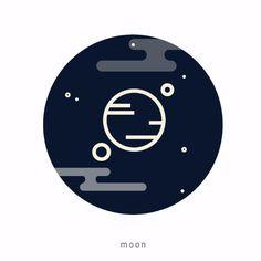 A m a z i n g  n i g h t  #moon #night #star sky #black #blue #blacknight #cloudy #icondesign #graphicdesign #flatdesign #creative #claudiachieffo #white #infinity #space #vector #illustree #illustration #draw #color #minimal #streetart #art #landscape