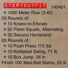 #EveryDayFit 140401 #crossfit #wod #workout