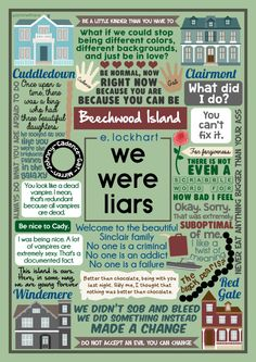 Book Collage based on 'We Were Liars' by elockhartbooksMore Book Collages HERE