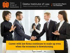 """Join the most secured career~ """"Law"""" #GeetaInstituteofLaw  Visit: www.geetalawcollege.in or call-+91-9729970000."""