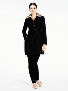 faux fur collar coat - kate spade new york