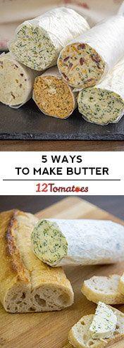 Compound Butters - Five Ways to Flavor Butter Flavored Butter, Homemade Butter, Butter Recipe, Butter Icing, Cookie Butter, Butter Bell, Butter Pasta, Butter Shrimp, Steak Butter