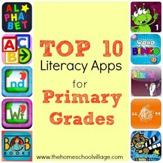 Top 10 Literacy Apps for Primary Grades - The Homeschool Village (scheduled via http://www.tailwindapp.com?utm_source=pinterest&utm_medium=twpin&utm_content=post27068138&utm_campaign=scheduler_attribution)