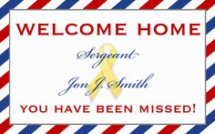 Military Welcome Home Banner by starsandstripe on Etsy, $1.00  www.StarsAndStripesStationery.com