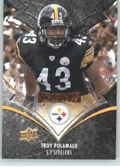 2008 Upper Deck Icons #78 Troy Polamalu - Pittsburgh Steelers (Football Cards)…