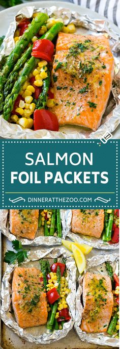Personalized Graduation Gifts - Ideas To Pick Low Cost Graduation Offers Salmon Foil Packets Recipe Grilled Salmon And Vegetables Foil Packet Dinners, Foil Pack Meals, Foil Dinners, Grilling Recipes, Fish Recipes, Seafood Recipes, Cooking Recipes, Cooking Ideas, Seafood Dishes