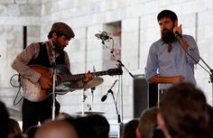 the avett brothers performing at the 2008 newport folk festival at fort adams state Ppark
