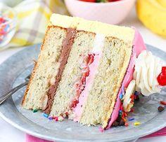 BANANA SPLIT LAYER CAKE | Food And Cake Recipes