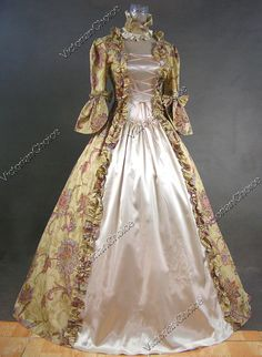 Gold Victorian Ball Gowns
