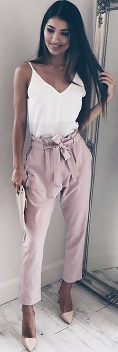 how cute is this outfit all neutral shades