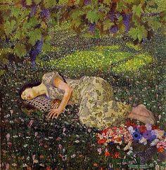Dreaming Of Pomegranates by Felice Casorati