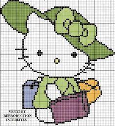 Artes e bordados da Sol: Gráficos da Hello Kitty