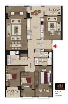 Temaşehir Konya Architecture Residential Architecture homes Cultural Architecture, Facade Architecture, Residential Architecture, The Plan, How To Plan, Plan Plan, Villa Plan, Plan Autocad, Loft Stil