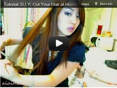 How to cut hair at home video tutorials
