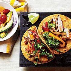Garlic-Chipotle Chicken Tacos Recipe | MyRecipes.com