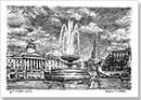 Trafalgar Square Pen and Ink Date: 31 August 2013 Size: 210 x 148mm  Stephen Wilkshire  Autistic artist recreates cityscape of popular destinations after having only looked at them once through pen and ink on paper.