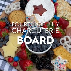 This Independence Day, serve up a festive 4th of July charcuterie board. If you haven't heard of this 4th of July idea before, it's a spin on the classic charcuterie board-but in this case, it's filled with strictly red, white, and blue foods for the ultimate patriotic food display. #4thofjuly #appetizeridea #4thofjulyboard #bhg Chocolate Dipped Pretzels, Blue Jam, Cheese Squares, Star Cookie Cutter, Blue Food, Food Trays, Leftovers Recipes, Shaped Cookie