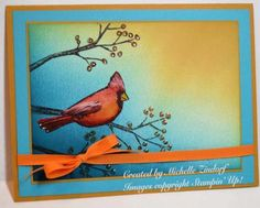 Happy Autumn Cardinal - Stampin' UP! Card created by Michelle Zindorf