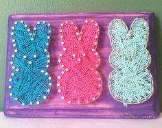 Peeps String Art Sign, Easter, Made to Order