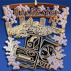 Rochester Ornament, Rochester New York Ornaments, Rochester Gifts, Tom Pollard Designs