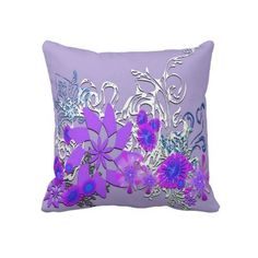 "#pillows #floral #purple #forhome #zazzkle #elenaindolfi Floral Purple American MoJo Pillow by elenaind.Made to be printed in an unlimited number of colors, Zazzle's personalized throw pillows are a great way to decorate your living room. Pictured above, elenaind's ""purple""design will be expertly printed using zazzle's technologically-advanced process that is highly regarded due to the vibrant images it produces."