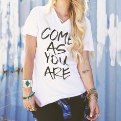 """**PRE-ORDER**- """"Come As You Are"""" Tee – Be Still Clothing Company"""