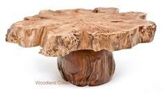 Burl Wood Coffee Tables by Woodland Creek.