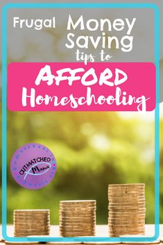 Frugal Money Saving Tips to Afford Homeschooling - The Outmatched Mama Montessori Homeschool, Homeschool Curriculum, Homeschooling, Funny Tips, Frugal Tips, Student Learning, Money Saving Tips, Life Skills, Encouragement
