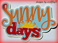 CRAFTECAFE SUMMER TITLE paper piecing premade Scrapbook page die cut WOLFFEY5 #HANDMADE