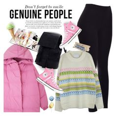 """""""GENUINE PEOPLE - Don't forget to smile!"""" by anita-n ❤ liked on Polyvore featuring Converse"""