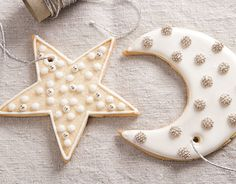 Thin remaining icing with water and decorate inside the borders.   - CountryLiving.com