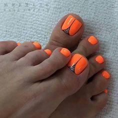 Ideas For Pedicure Designs Summer Toenails Black Toe Nail Color, Toe Nail Art, Nail Colors, Shellac Pedicure, Pedicure Colors, Pedicures, Pedicure Ideas, Neon Pedicure, Pedicure Summer