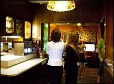 Cilla and Lisa in the kitchen at Graceland