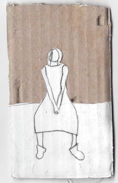 #Cardboard #painting   #illustration by ilana Graf illustrator