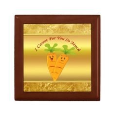 Cartoon carrots with big eyes and a smile to go gift box - foil leaf gift idea special template
