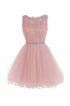 Sexy Prom Dress,Short Prom Dress,Tulle Homecoming Dress,Prom Gown by fancygirldr. Cute Homecoming Dresses, Hoco Dresses, Pretty Dresses, 15 Dresses Pink, Blush Pink Short Dress, Pink Lace, Dresses For 15, Short Pink Prom Dresses, Evening Dresses