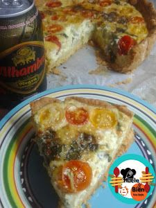 Pastel de queso azul y tomatitos | Cocina Sweet And Salty, Cakes And More, Guacamole, Lasagna, French Toast, Food And Drink, Cooking, Breakfast, Ethnic Recipes