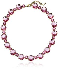 """All Around Faceted Lucite Stone Pink Collar Statement Necklace, 16"""" Amazon Collection http://www.amazon.com/dp/B00G1ZTDMO/ref=cm_sw_r_pi_dp_Ac47wb1V82EWE"""