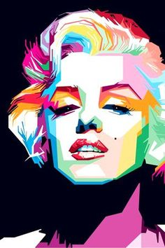 Ideas Vintage Music Posters Marilyn Monroe For 2019 Pop Art Marilyn, Portraits Pop Art, Portrait Art, Marilyn Monroe Poster, Marylin Monroe, Pop Art Dibujos, Arte Pink Floyd, Sketch Manga, Pop Art Images