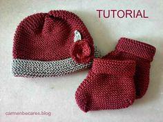 Con este esquema podréis tejer un bonito gorrito de bebé para primera puesta.